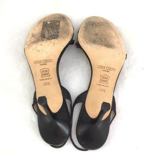 Jimmy Choo Shoes - Jimmy Choo India Sandal Black Kid Leather 40.5 10